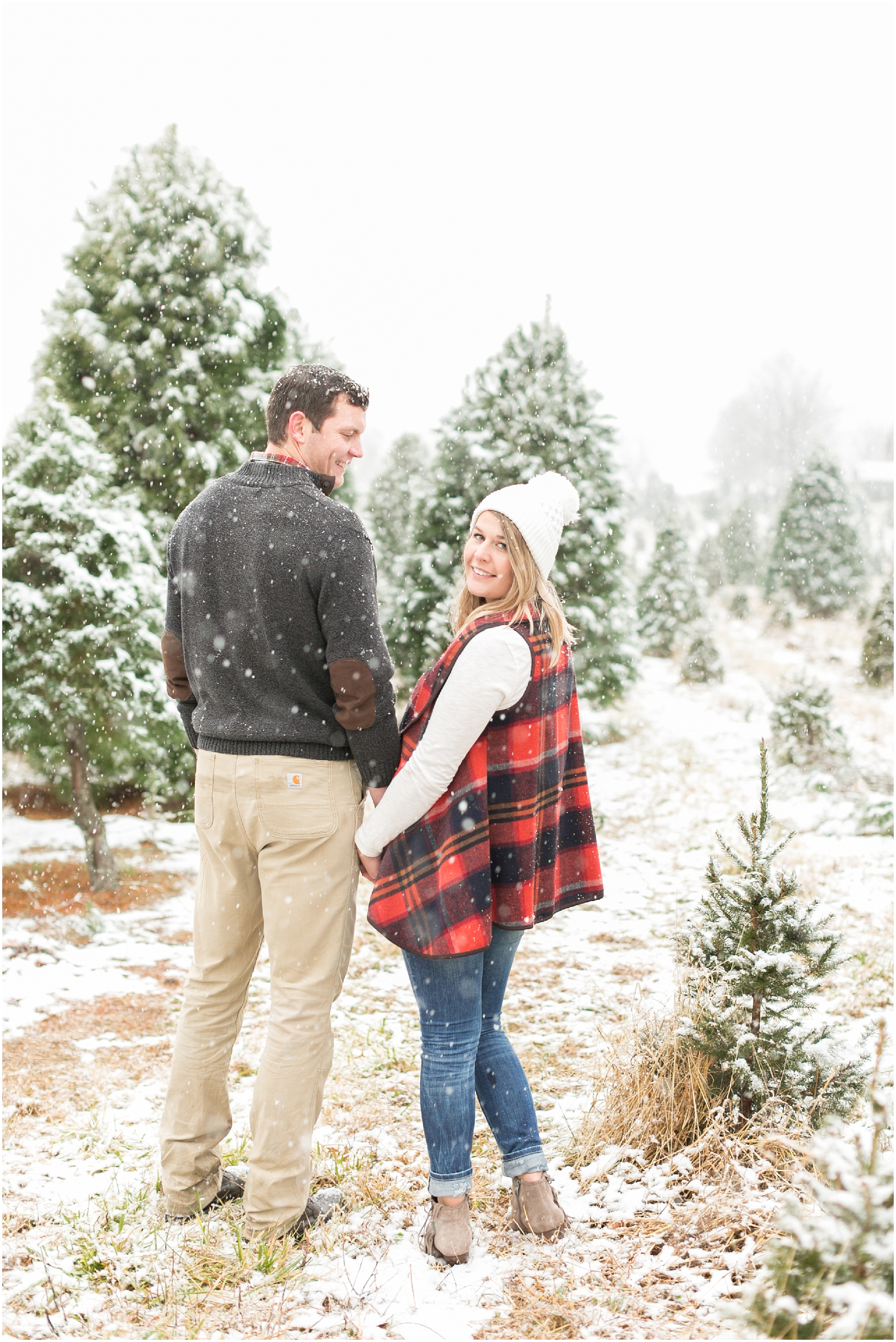Belmont Christmas Tree Farm Engagement Portraits Jessica Ryan Photography